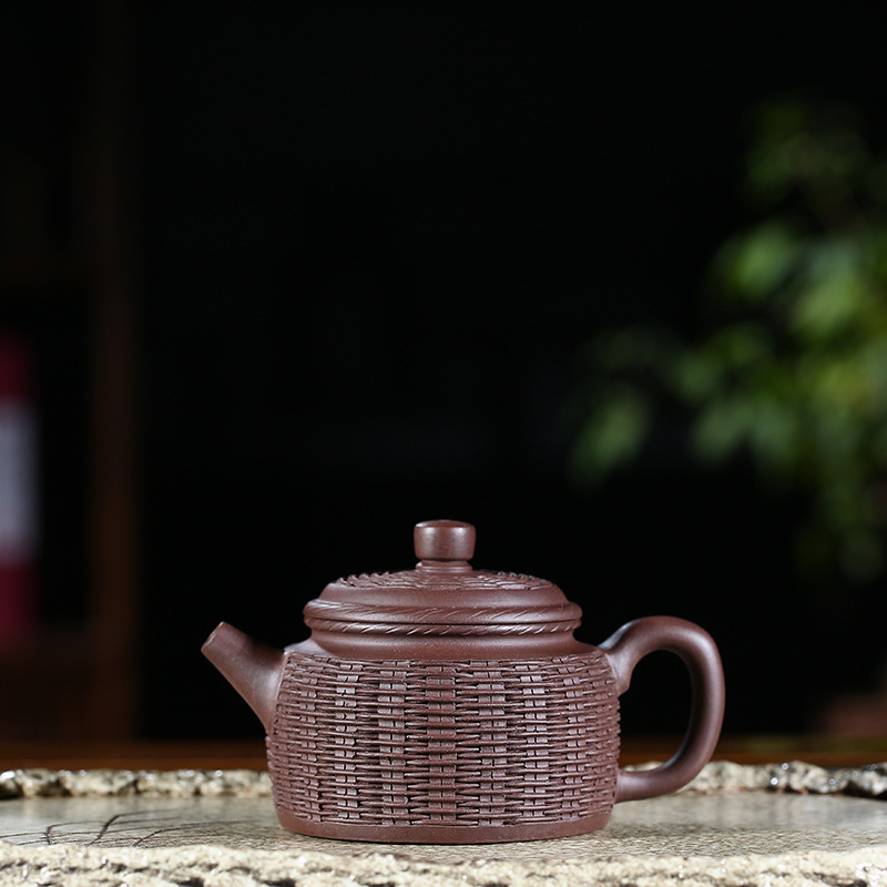 Ink For Imprinting Of Seals Bamboo Weaving Teapot Infusion Of Tea Preserve Ones Health Kettle Kungfu Online Teapot Tea SetInk For Imprinting Of Seals Bamboo Weaving Teapot Infusion Of Tea Preserve Ones Health Kettle Kungfu Online Teapot Tea Set