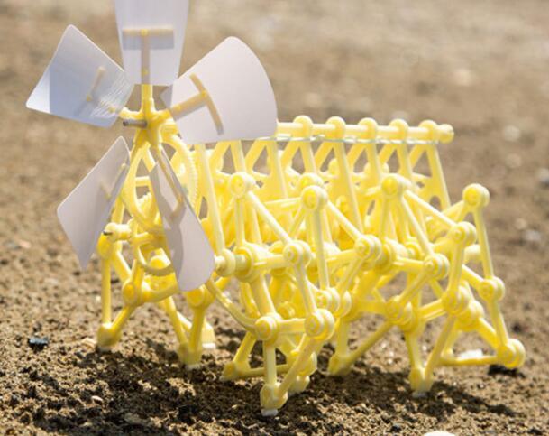 DIY 3D головоломка ветер мощь зверь ходунки мощность ed ходьба сборка strandbeest модели наборы робот игрушки ручной работы игрушки для эксперимент...