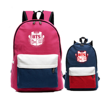Candy Color BTS Bangtan Boys Mochila Feminina Canvas Women Printing Backpacks Student Fashion School Bags Laptop