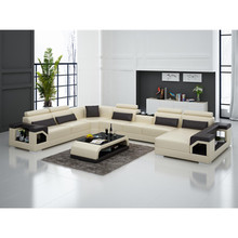Geniune Itallian black Sofa set living room furniture leather leisure living room sofa