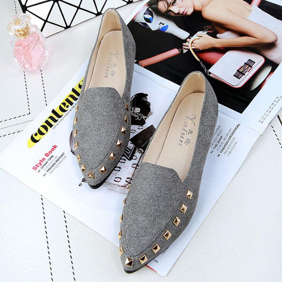 MHYONS Polka dot slip-on ballet flats women shoes suede leather loafers casual women flat ballerina boat shoes loafers shallow