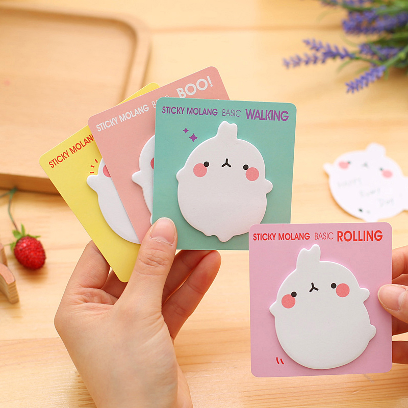 Cute Rabbit Cartoon Animals Memo Pad Planner Sticky Note Paper Sticker Kawaii Stationery Pepalaria Office School Supplies