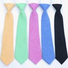 Галстуки для детей, хлопковый однотонный качественный галстук для шеи, для мальчиков и девочек, для студентов, Детский галстук, для выступлений, фотографии, выпускного, церемонии, подарок