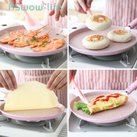 8 Inch Pizza Plate 24cm Pan Non stick Pancakes Class Cake Pancakes Non stick Pans Cookware For Kitchen Pot