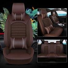 Kalaisike кожа плюс льна универсальное автокресло Чехлы для Chrysler все модели 300 PT 300c Cruiser Grand Voyager Тюнинг автомобилей