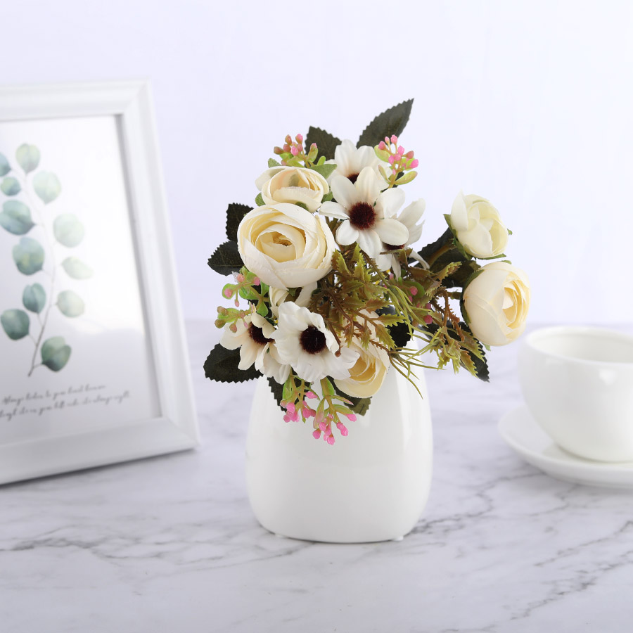 Silk DIY Daisy Camellia Artificial Flowers For Xmas Party And Wedding Decoration 2