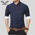 2017 Primavera New Long-sleeved Design Floral Lazer Bens De Alta Qualidade de Ferro-livre de Negócios Camisa de Algodão Fino sólidos 5XL N231
