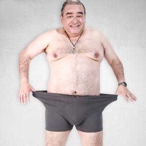 Image 1 - 脂肪下着男性ボクサーショーツファッション通気性竹繊維ふくよかボクサーオムセクシーな潮camouプリントcueca男性下着