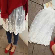 2017 spring all-match white fashion beautiful lace basic bust skirt female short half slip petticoat