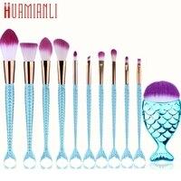 Pincel Maquiagem Cosplay Pinceis De Maquiagem New 10Pcs Mermaid Beauty Cosmetic Makeup Brush Tool Set Foundatio
