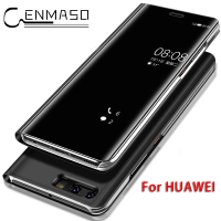 For HUAWEI MATE 10 Case Original Smart Chip Mirror Flip Clear View For HUAWEI P10 P9