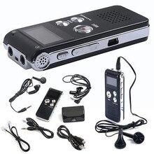 8 Гб ЖК-дисплей аудио цифровой MP3-плеер с диктофоном перезаряжаемый диктофон usb-накопитель MP3-плеер# YL