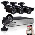 ZOSI HD 720p DVR 4 Channel CCTV System Video Surveillance DVR KIT with 4PCS 1280TVL 720P Home Security 4ch Camera System