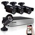 Zosi hd 720 p dvr 4 canais cctv sistema de vigilância de vídeo KIT DVR com 4 PCS 1280TVL 720 P 4ch Casa de Segurança Câmera sistema