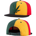 Trucker Hater Snapback Gorras 2017 Casual Hip Hop Baseball Cap Embroidery Green Hemp Leaf /Red Stripes Hats basic Unisex Chapeau