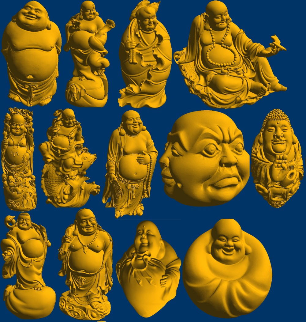 13 Pieces 3D Model STL Formate File CNC And Printing Relief Buddha