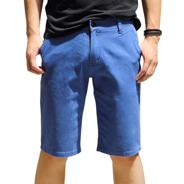 6f04c812e3 2016 Venta Caliente de Los Hombres Casual Pantalones Cortos de Algodón de  la Nueva Llegada Cielo azul Del Verano Hot Pants ...