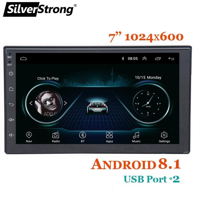 SilverStrong plus rapide Express Android8.1 universel 7 ''voiture DVD gps navigation radio lecteur stéréo 2din radio voiture lecteur multimédia