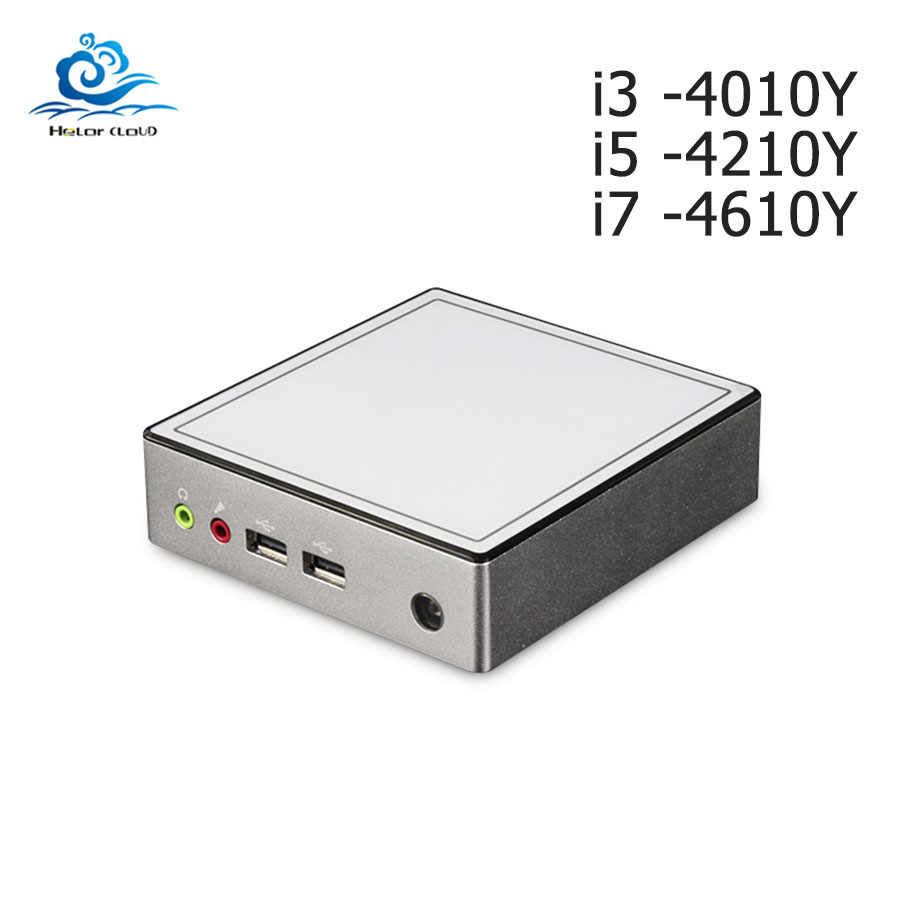 Mini PC Intel Celeron 2955U 1.40GHz Windows 10 Mini Komputer I3 4010Y Kipas Pendingin NUC Desktop PC Kantor DDR3 ram HDMI HTPC