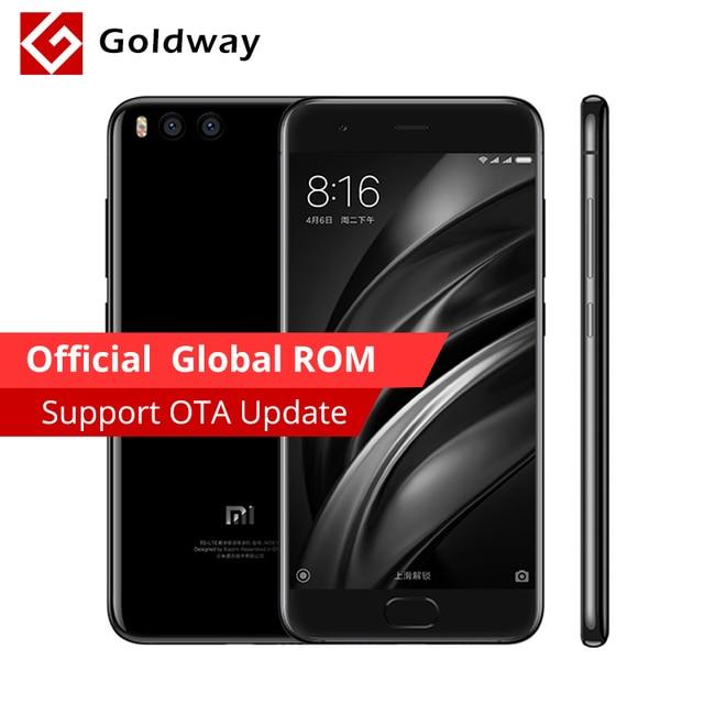 """Oryginalny Xiao mi mi 6 mi 6 4 gb RAM 64 gb ROM Telefon komórkowy Snapdragon 835 Octa Rdzeń 5.15 """"12MP Dual Camera Cztery Boczne Zakrzywione Ciało"""