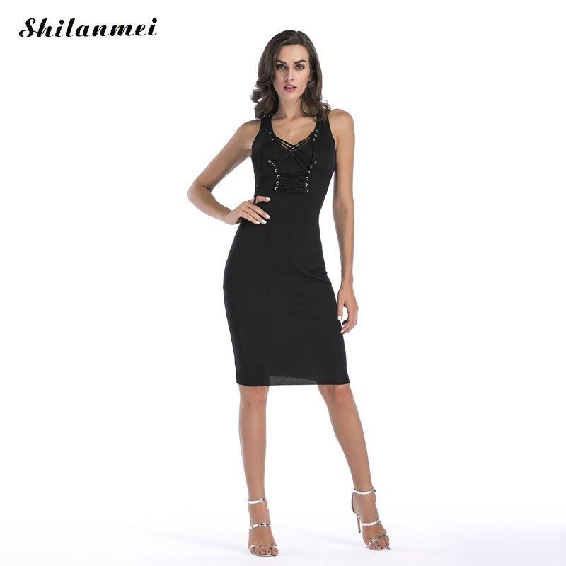 New 2018 Women Summer Autumn Sexy Casual dress Fashion elegant Black knitted Dress Vestidos Sleeveless Package Hip Dress женское платье summer dress 2015cute o women dress