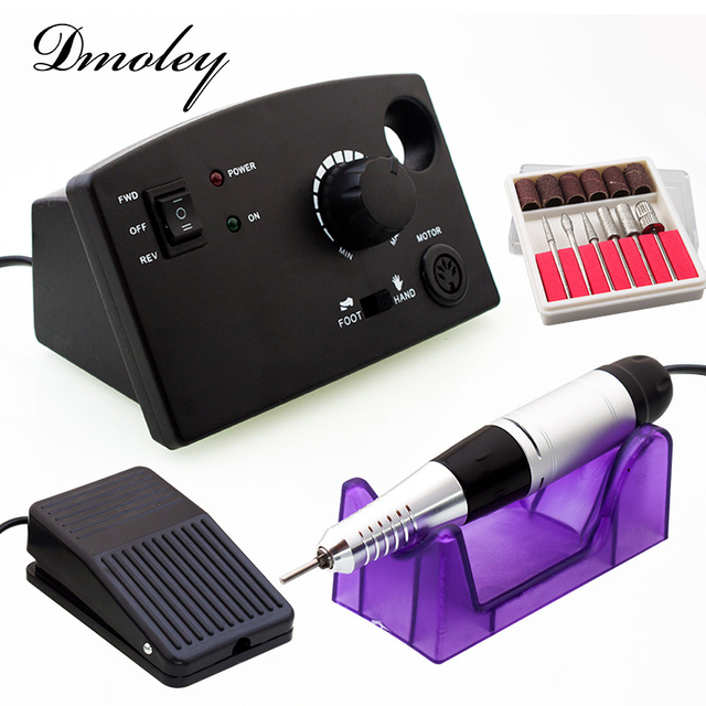 Dmoley Electric Nail Drill Machine Pro White Black Diamond Shape ...
