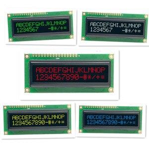 Image 1 - 1602 moduł OLED port szeregowy i równoległy 5 kolorów OLED niebieski/zielony/biały/żółty kompatybilny z konwencjonalnym modułem OLED 1602A