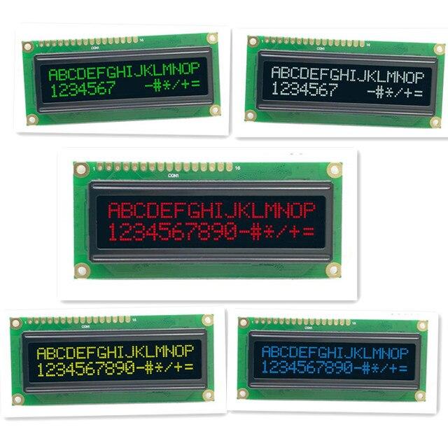 1602 moduł OLED port szeregowy i równoległy 5 kolorów OLED niebieski/zielony/biały/żółty kompatybilny z konwencjonalnym modułem OLED 1602A