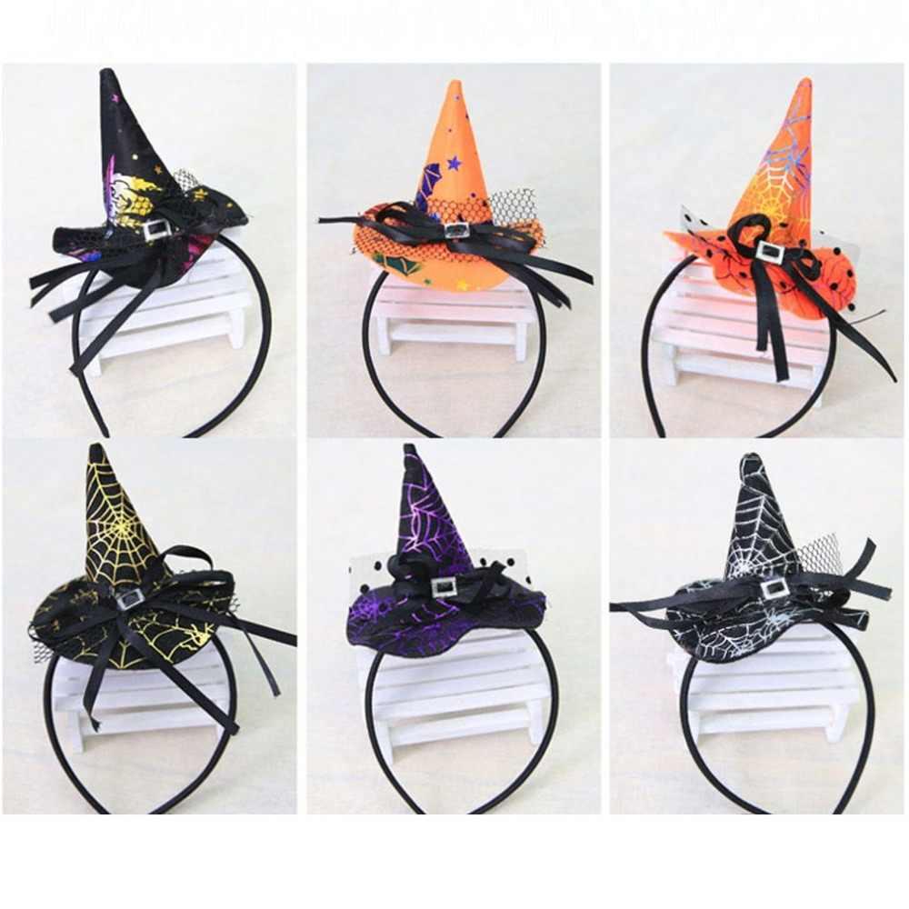 Рождественская пряжка на голову ведьмы реквизит для Хэллоуина красочный обруч для волос «шляпа ведьмы» модный костюм наряды Аксессуары для вечерние