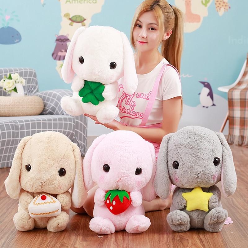 söta kanin dockor klassisk mjuk plysch kanin kanin leksak loppig - Plysch djur