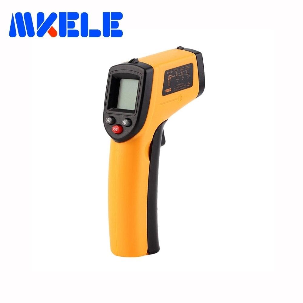 Nuevo GM320 láser LCD Digital de infrarrojos termómetro medidor de temperatura arma Punto-50 ~ 380 grados no termómetro de contacto al por mayor
