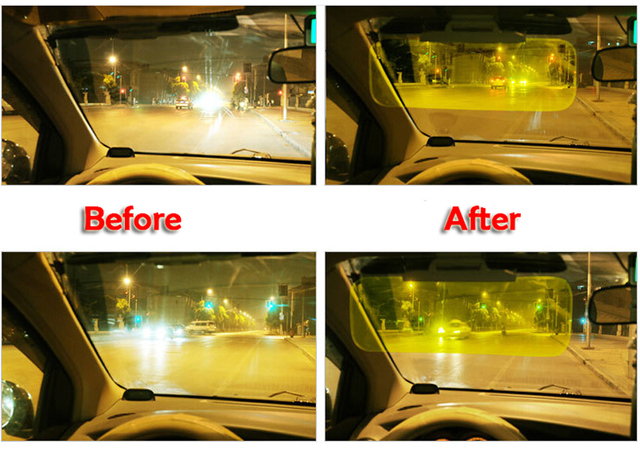HD Car Anti-dazzle visor goggles mirror sun clear view anti-sunshine For driver safty day & night  auto accessory styling