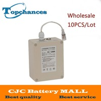 Wholasale 10x High Quality New Waterproof DC 12V 9800mah Rechargeable Li Ion Lithium Battery Batteries For