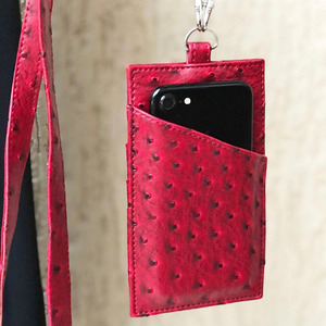 Image 4 - XMESSUN 2020 Genuine Leather Phone Card Holder Crocodile Pattern Cow Leather With Lanyardr Pouch Phone Bag For iPhone  XS Max XR