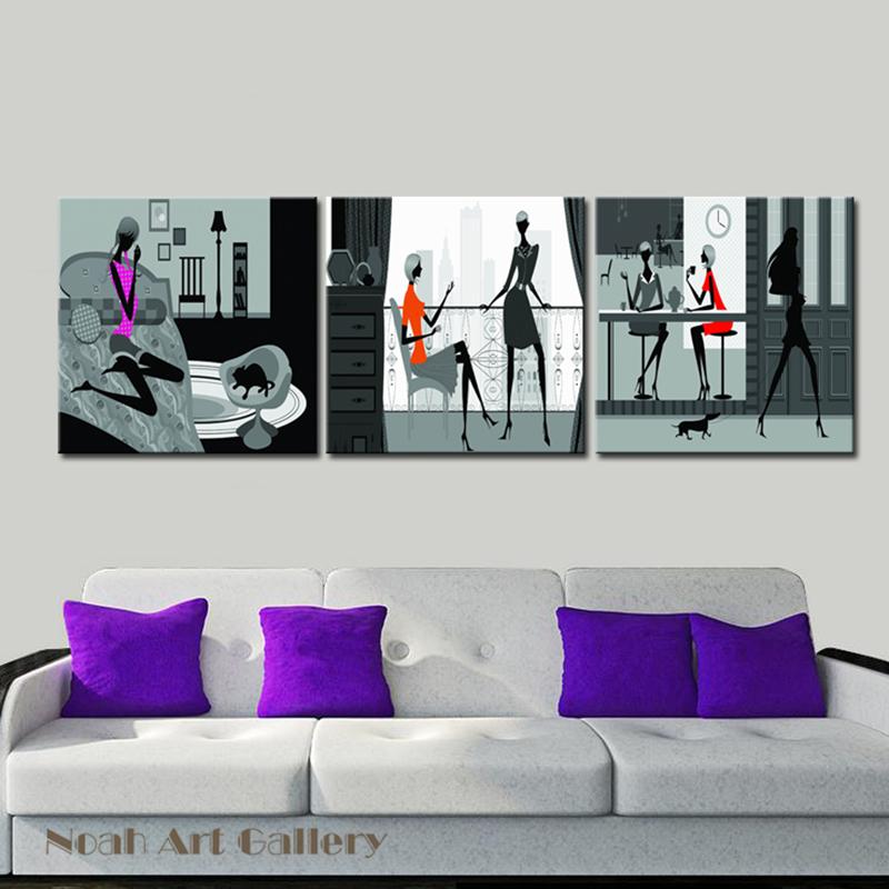 US $24 95 |Woman's Different Ways of Leisure Contemporary Art Abstract  Woman Figure Photo Prints for Home Decorative No Framed-in Painting &