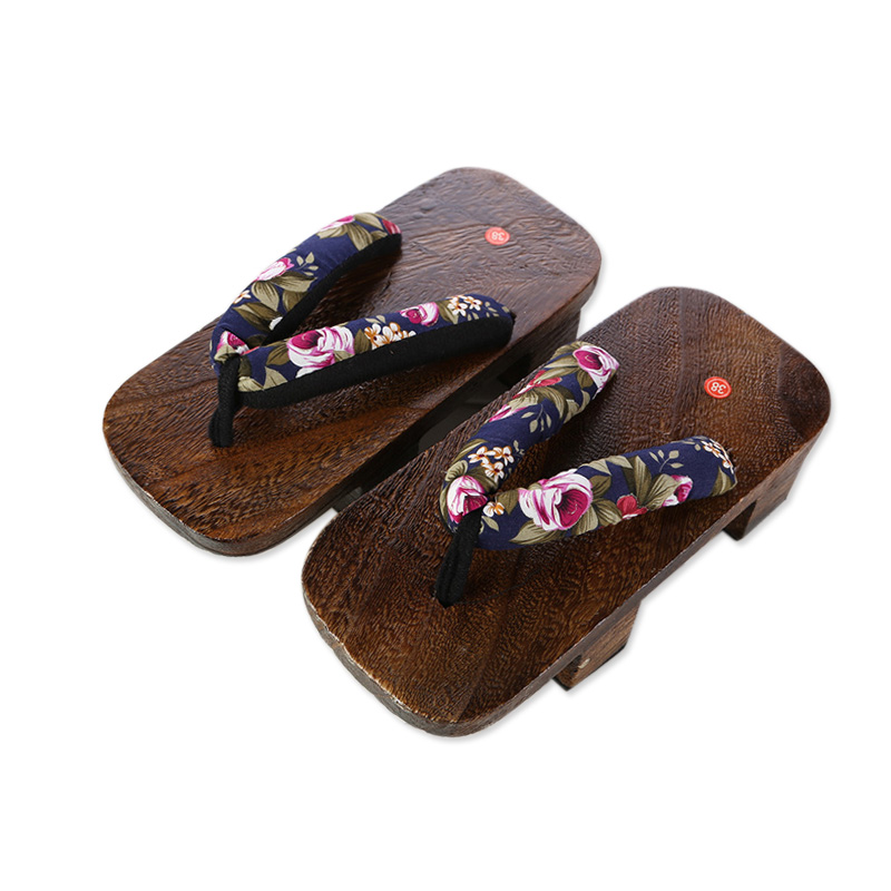 men geta sandals wood flip flops women thong clogs mules garden shoes wooden summer slippers cosplay custume personalized