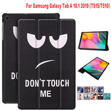 Ultra Slim Case voor Samsung Galaxy Tab EEN 2019 SM-T510 T515 Smart Folio PU Leather Stand Tablet Cover T510 Shell