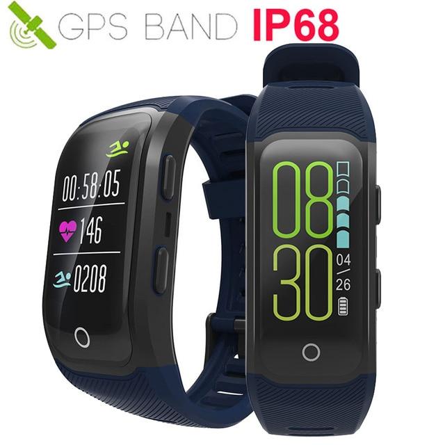 b78a185b61f Atualização Cor Relógio Inteligente GPS Sportwatch Corrida Nadar Ciclo Bola  Freqüência Cardíaca Smartwatch