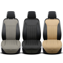 small waist car seat cushion Auto single PU Leather main driving Car Interior Chair Pad Mat Styling