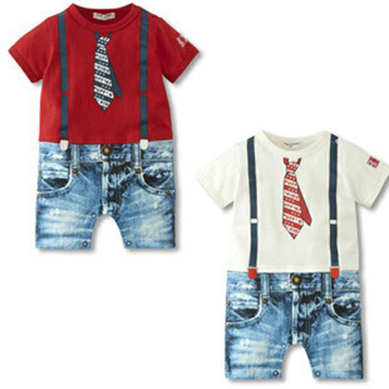 Zehui Charm Infant Toddler Cozy Soft Romper Jumpsuit Set Kid Baby Clothing Boy Braces Suits