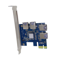 PCI E PCI Express Riser Card Expand Card Board PCIE 1 To 4 USB Adapter Card
