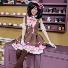 Pretty japanese anime love live nico caramelo uniforme de sirvienta princesa vintage lolita dress cosplay por encargo
