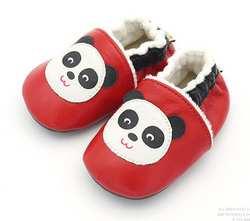 Милая обувь для малышей с животными из натуральной кожи с плюшевой подкладкой; детские мокасины; нескользящая обувь для первых ходунки;
