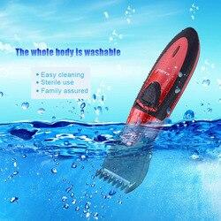 Gran oferta Kairui cortadora de pelo eléctrica resistente al agua maquinilla de afeitar para niños y bebés para hombres máquina de corte de pelo cortadora de pelo P49