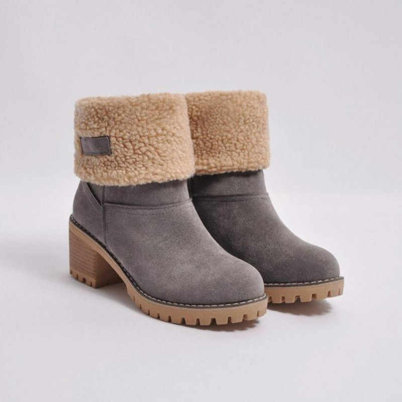 17cc25352 Detail Feedback Questions about Women's Snow Boots Thick Wool Warm ...