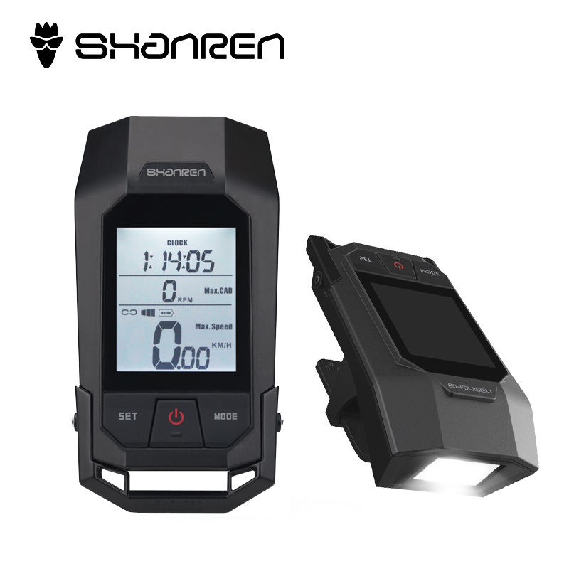 SHANREN MTB Road Bicycle Computer Light Cycling 2 In 1 Wireless Speedometer Computer MTB Bicycle Lamp Bike Stopwatch Bike Part стоимость