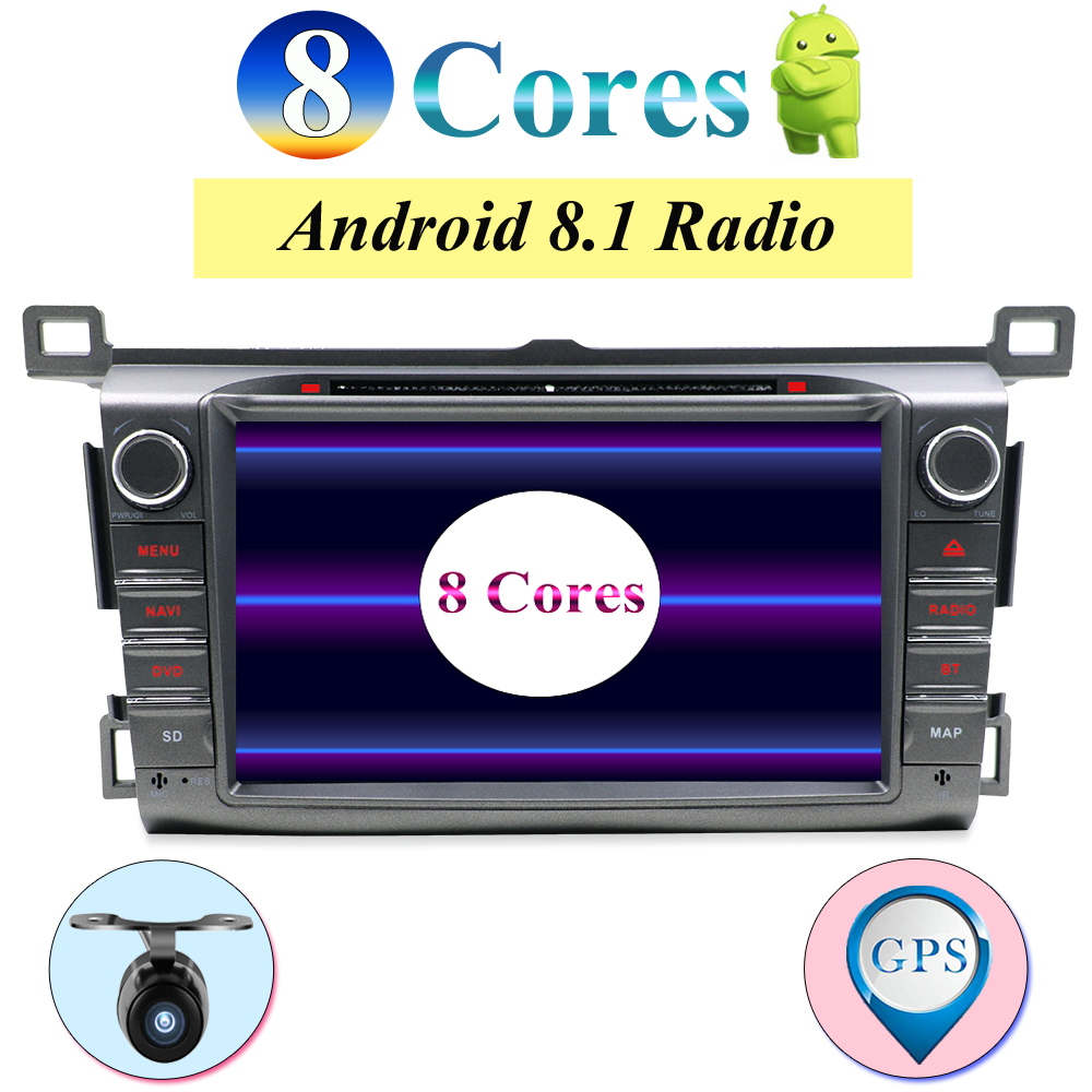 2 GB RAM Android 8.1 Octa Core lecteur DVD de voiture pour Toyota RAV4 RAV 4 2013 2014 2015 GPS Navigation Radio stéréo BT système caméra
