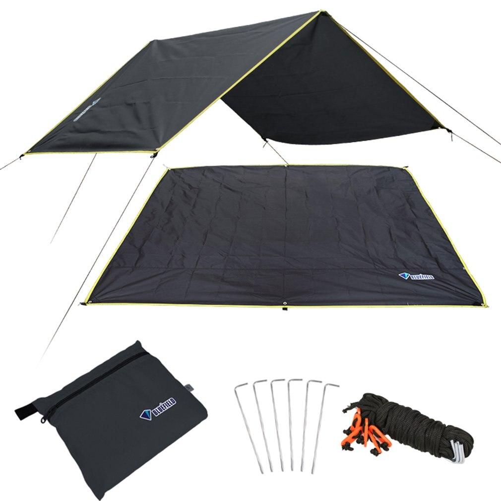 4-6 personas ultraligeras multifuncionales impermeables para acampar tienda de lona alfombrilla de suelo para acampar al aire libre senderismo Picnic