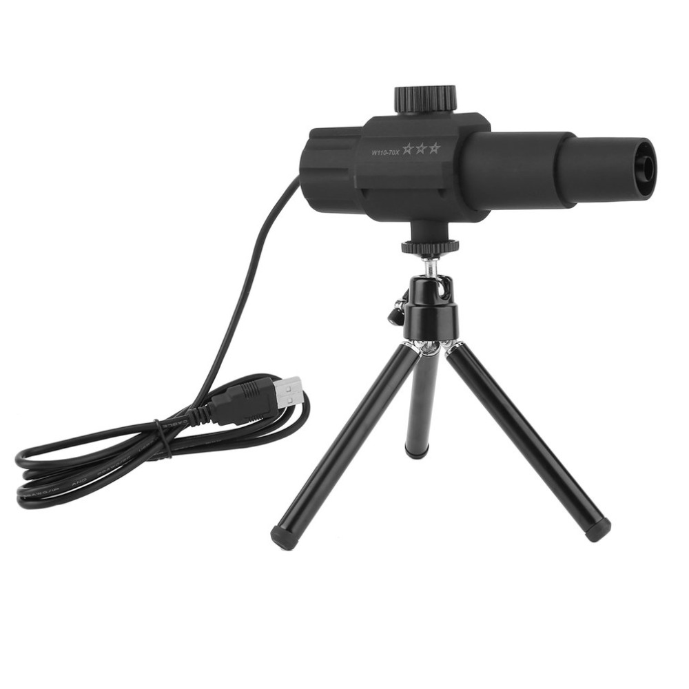 Telescopio USB Digital inteligente Monocular ajustable Cámara escalable ZOOM 70X HD 2.0MP Monitor para fotografiar vídeos
