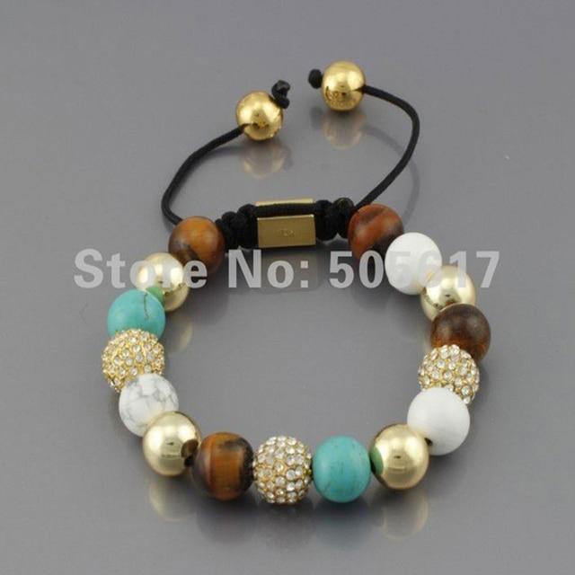 Shamballa Brazilian Jewelry Fashion Bracelet Micro Paved Customized Diy Charm Bracelets Christmas Gifts N